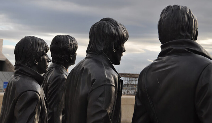 Estatua The Beatles en Liverpool